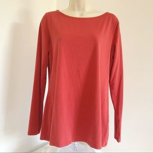 J Jill M Boat Neck Tee Pullover Stretch Relaxed